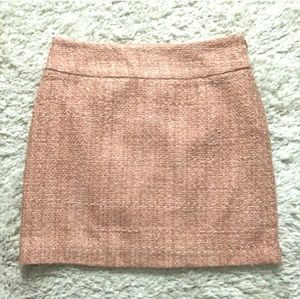 THE LIMITED Metallic Dusty Pink Skirt Sz 2  NWT! T